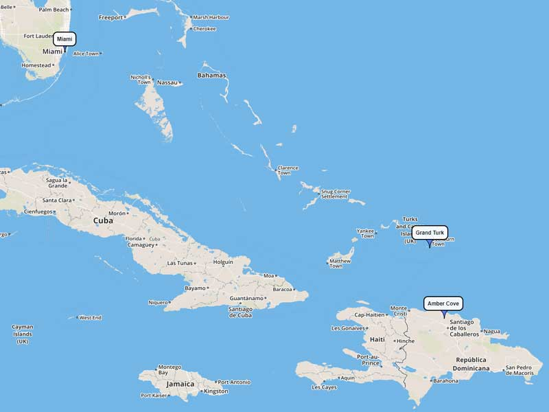 Carnival Cruise Line Eastern Caribbean 5-day route