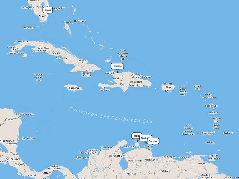 Royal Caribbean Southern Caribbean 9-day route
